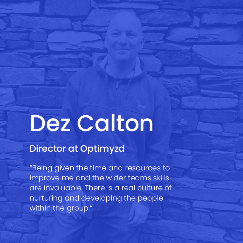 Dez Calton of Optimyzd text